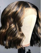 Load image into Gallery viewer, Transparent Highlighted Bob Wigs