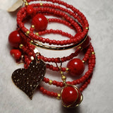 MEMORY WIRE RED PASSION SET - Accessories by v