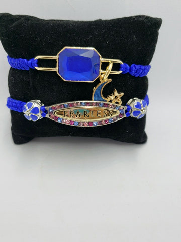 Royal blue macrame Bracelets - Accessories by v