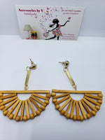 WOOD FASHION EARRINGS - Accessories by v