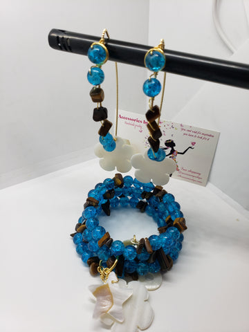 Blue and brown memory wire set - Accessories by v