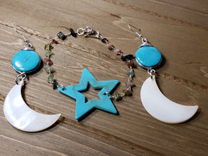BLUE  STAR AND MOON SET - Accessories by v