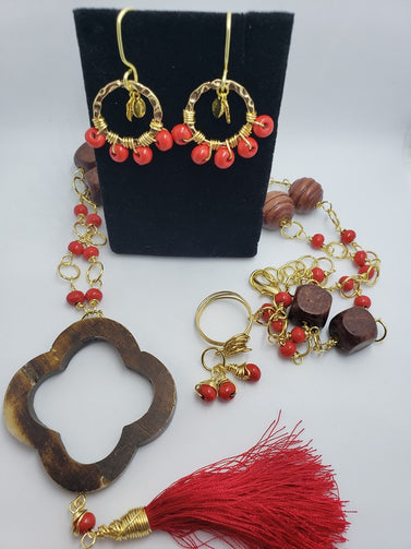 WOOD RED SET - Accessories by v