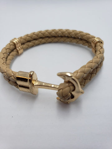 ANCHOR BRACELET BEIGE UNISEX - Accessories by v