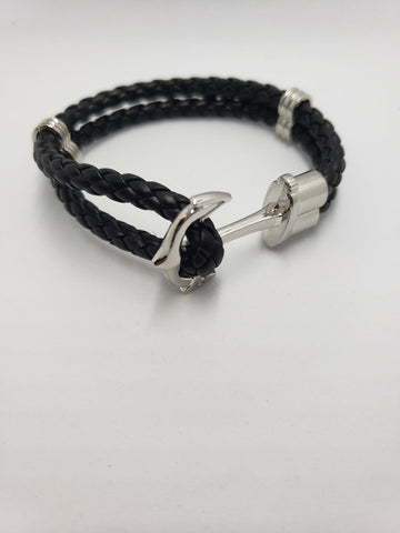 ANCHOR BRACELET BLACK UNISEX - Accessories by v