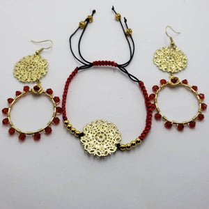 Red and Gold Set - Accessories by v
