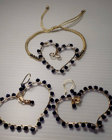 Blue heart set - Accessories by v