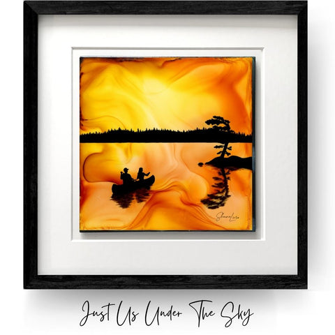 Just Us Under The Sky - Fire Made Art By Shauna Liora