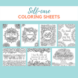 Self-Care Coloring Sheets