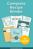 Customizable Recipe Binder