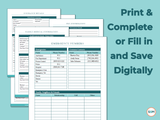 Family Emergency Binder - Fillable & Printable PDF