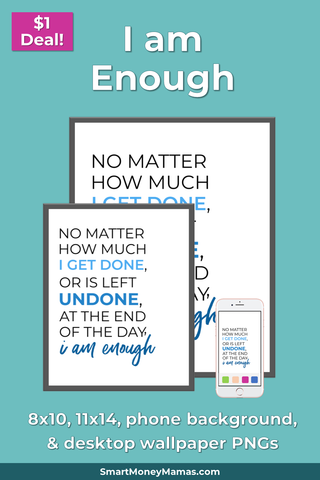 "Brene Brown ""I am Enough"" Printable Wall Art"