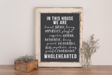 "Brene Brown-Inspired ""In This House"" Printable Wall Art"