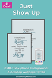 "Brene Brown ""Just Show Up"" Printable Wall Art"