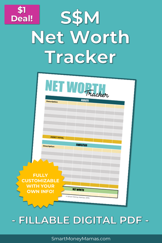 Net Worth Tracker - Fillable & Auto-Calculating PDF