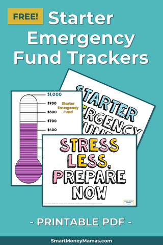 Starter Emergency Fund Trackers