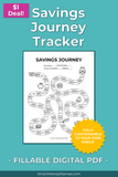 Game Map Savings Tracker - Fillable & Auto-calculating PDF