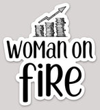 Woman on FIRE Vinyl Sticker