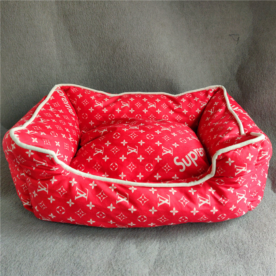 Sup Lv Dog Beds Winter Red Niceydoggy