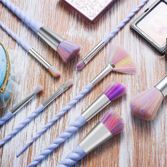 Spiral Handle Makeup Brushes