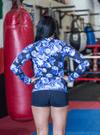 Blue Floral Unisex Rash guard