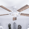 "52"" Octavia, Bright White, Remote Control, Ceiling Fan"
