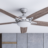 "52"" Clancy, Brushed Nickel, Remote Control, Ceiling Fan"