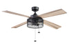 "52"" Mandino, Matte Black, Pull Chain, Ceiling Fan"