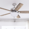 "52"" Cannes, Satin Brushed Nickel, Pull Chain, Ceiling Fan"