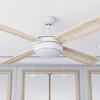 "52"" Kailani, Bright White, Pull Chain, Ceiling Fan"