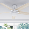 "52"" Dorsey IO, Bright White, Remote Control, Smart Ceiling Fan"