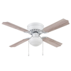 "42"" Cherry Hill, White, Pull Chain, Ceiling Fan"