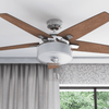 "52"" Cicero, Brushed Nickel, Pull Chain, Ceiling Fan"