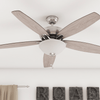 "60"" Denon, Brushed Nickel, Pull Chain, Ceiling Fan"