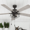 "52"" Marshall, Matte Black, Pull Chain, Ceiling Fan"
