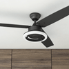 "52"" Orbis, Matte Black, Remote Control, Ceiling Fan"