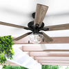 "52"" Abner, Bronze, Pull Chain, Ceiling Fan"