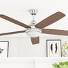 "52"" Ashby, Chrome, Remote Control, Ceiling Fan"