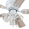 "42"" Sawgrass, White, Pull Chain, Ceiling Fan"