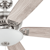 "52"" Montlake Brushed Nickel, Pull Chain, Ceiling Fan"