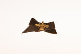 Queen Bee Leather Bow Hair Clip- Hair Accessory