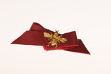 Red Leather Queen Bee Bow