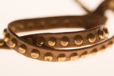 Tan Studded Leather Headband