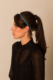 Electric Blue Leather Studded Headband
