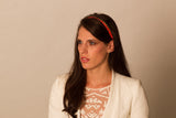 Neon Orange Pop Color Rope Headband/Necklace- Hair Accessory