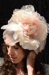 Light Pink Floral Fascinator Headband
