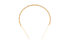 Gold Dainty Crystal Floral Headband