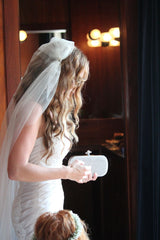 Bridal Veil Cap- Chapel Length Juliet Cap