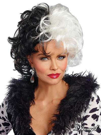 SHORT BLACK & WHITE WIG