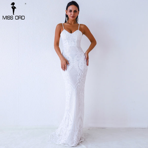 Missord 2019 Women Sexy V Neck Off Shoulder Backless sleeveless sequin  Dresses Female Elegant Party Maxi b4cea95658f4